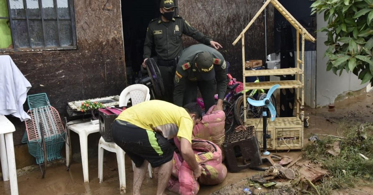 Fuertes lluvias afectan 50 barrios en Barrancabermeja