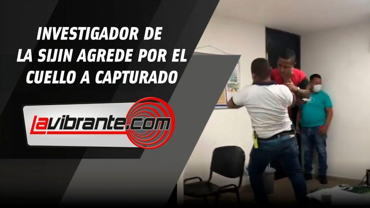 Policía agredió a capturado tomándolo por el cuello y estrellándolo contra la pared en Barranquilla