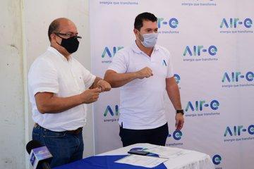 Gracias al apoyo del Ministerio de Minas y Air-e Firman contrato para la normalización  eléctrica de Puebloviejo