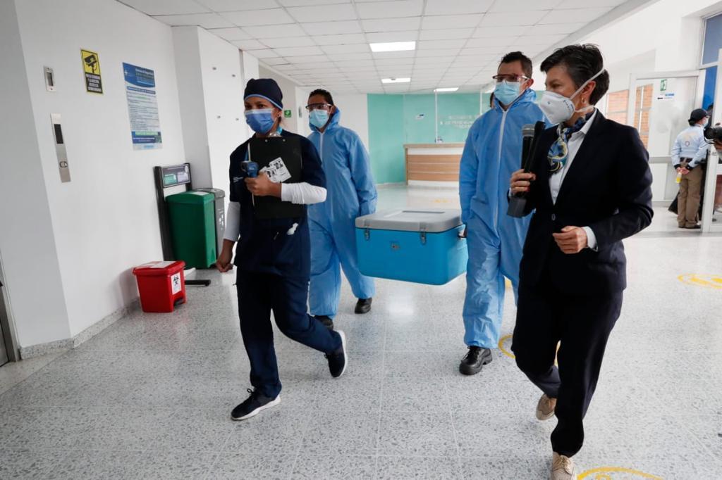 Con éxito se llevo a cabo en Bogotá el primer simulacro de vacunación contra el Covid-19