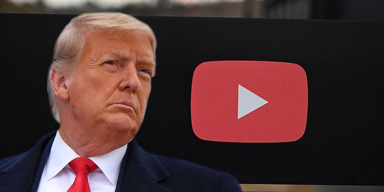 YouTube suspende canal de Trump y le borran un video