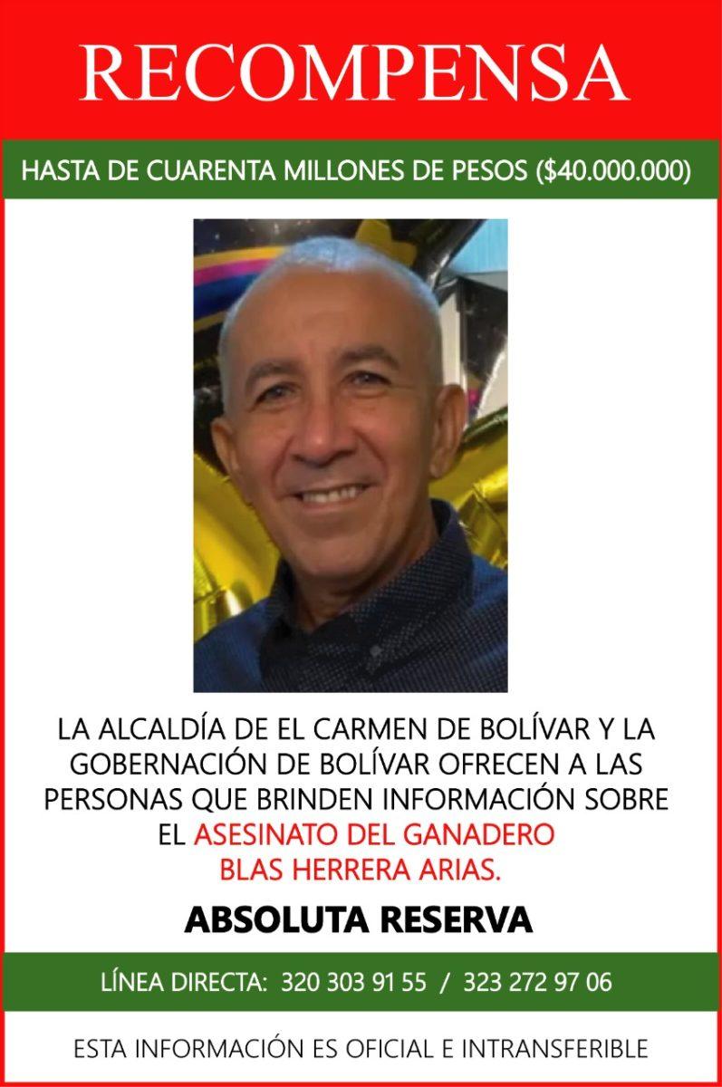 Sigue consternación en el Carmen de Bolívar por atroz crimen a ganadero