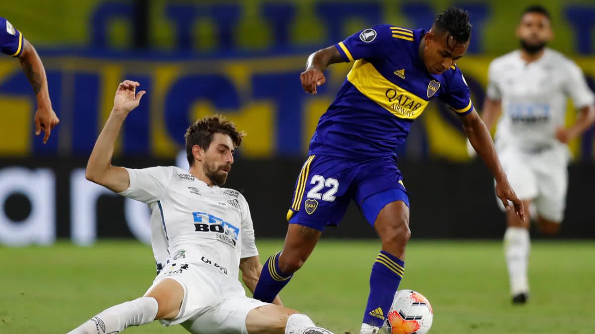 Boca empata sin goles contra Santos en la Bombonera por Copa Libertadores