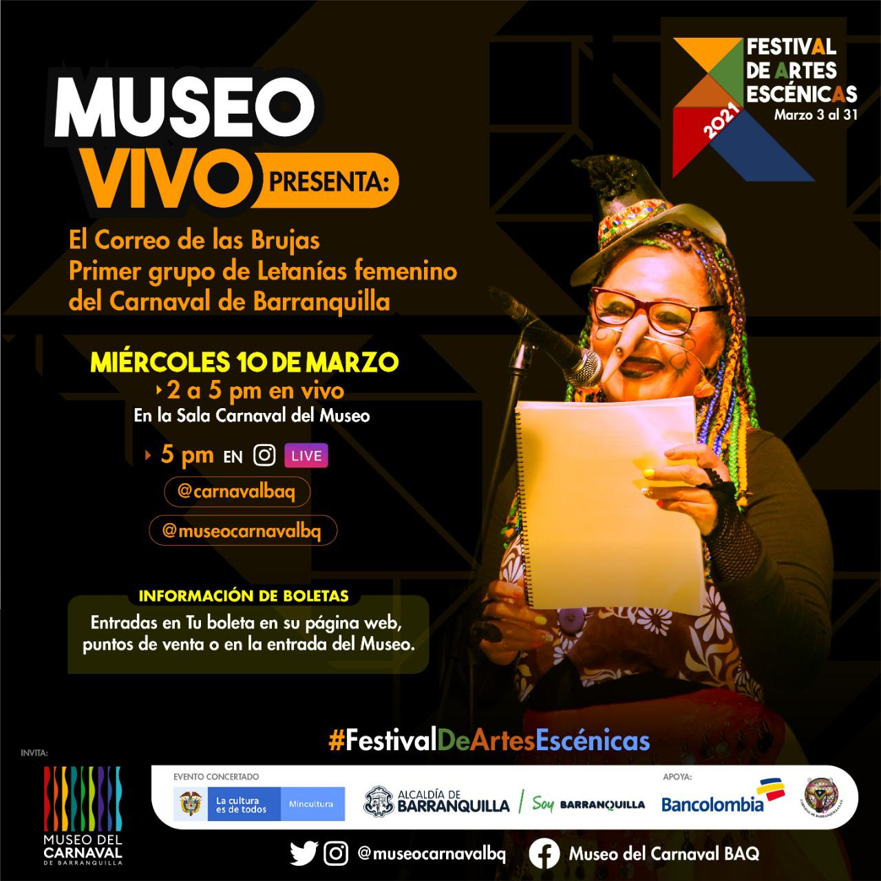 Continúa el Festival de Artes Escénicas con Museo en Vivo, Nocturno y Kids – @Carnaval_SA