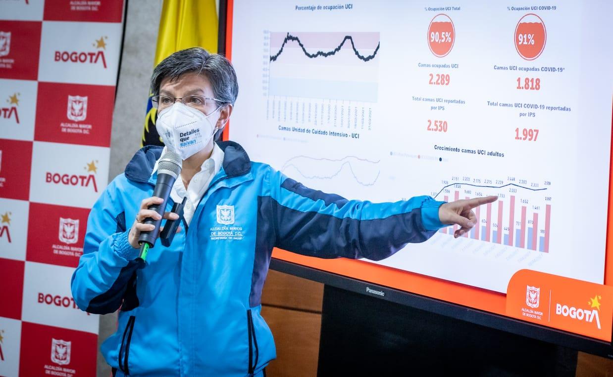 Bogotá entro en alerta roja y adopta nuevas medidas para enfrentar el tercer pico de la pandemia