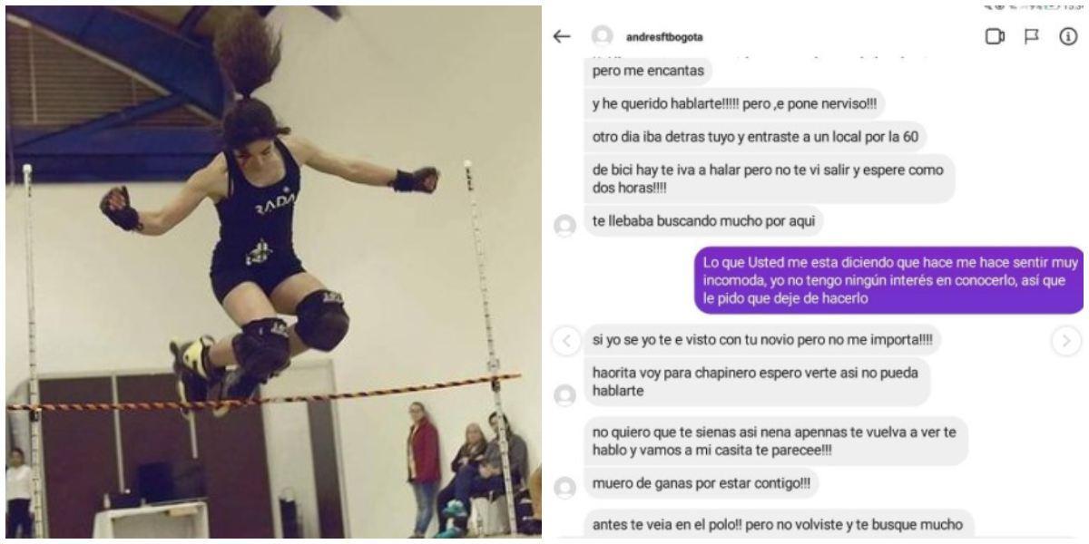 Joven patinadora recibe aterradores mensajes por parte de su acosador