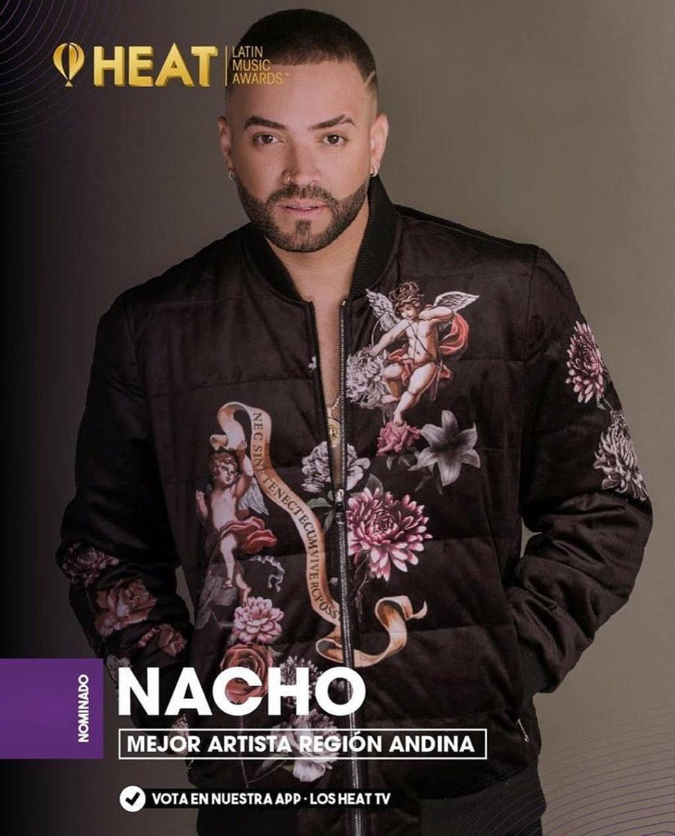 Nacho nominado en la sexta edición de los premios heat 2021