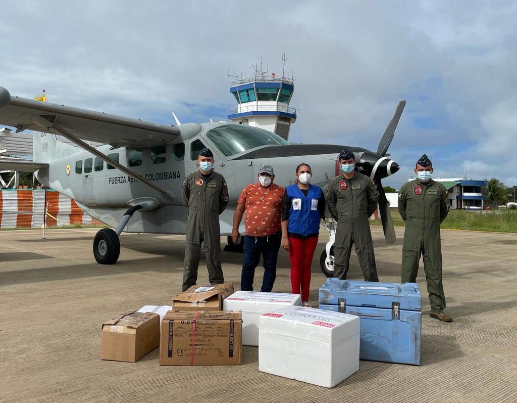 Más de 1.154 vacunas han sido transportadas por su Fuerza Aérea en Vichada