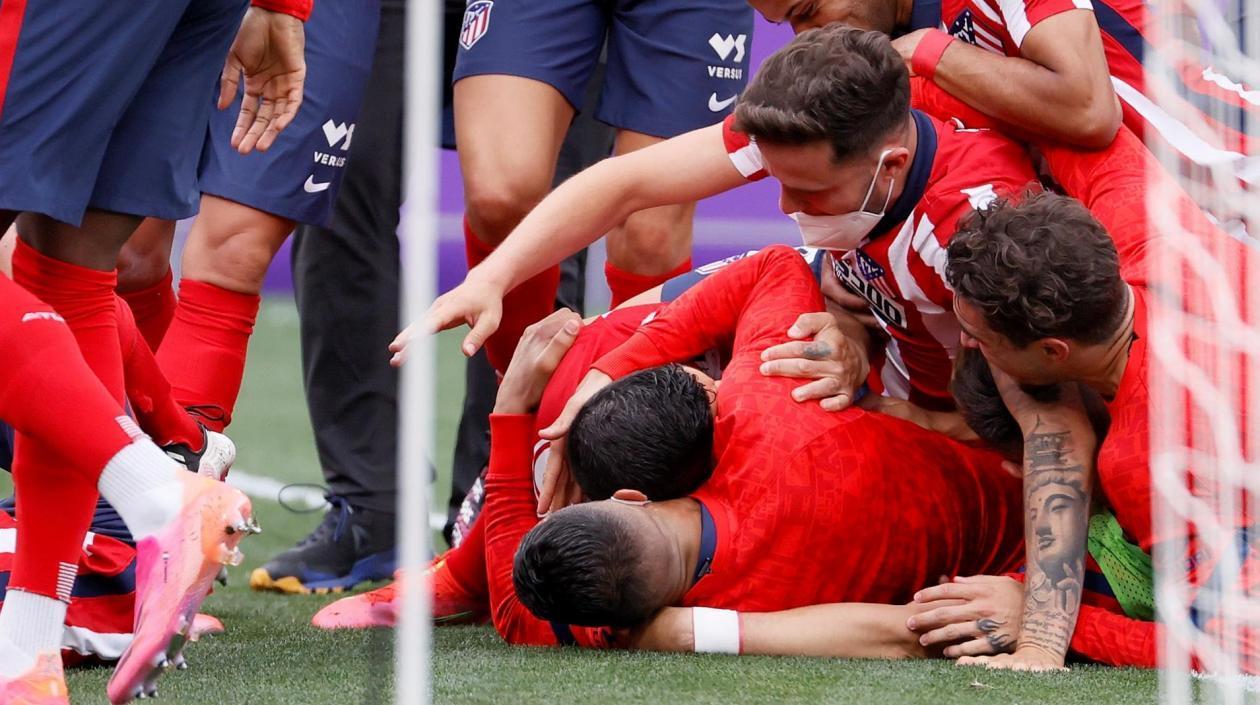Atlético de Madrid se coronó campeón de la liga española después de 7 años
