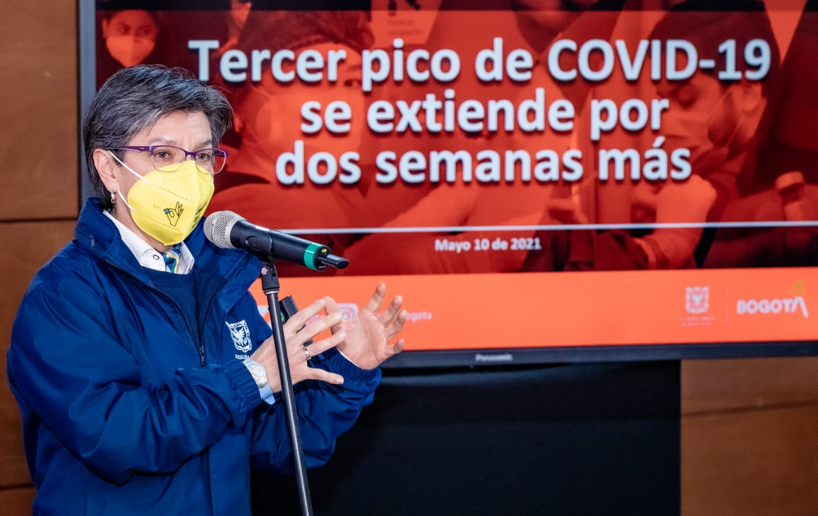 """""""Estar al 96% de ocupación UCI, es estar al borde del colapso hospitalario. Eso nunca había pasado en Bogotá"""": Alcaldesa Mayor – @Bogota"""