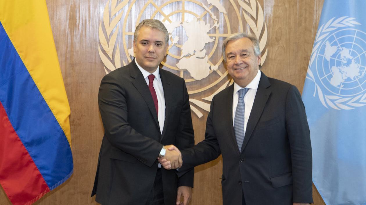 @IvanDuque reiteró a la ONU compromiso de un diálogo nacional en Colombia