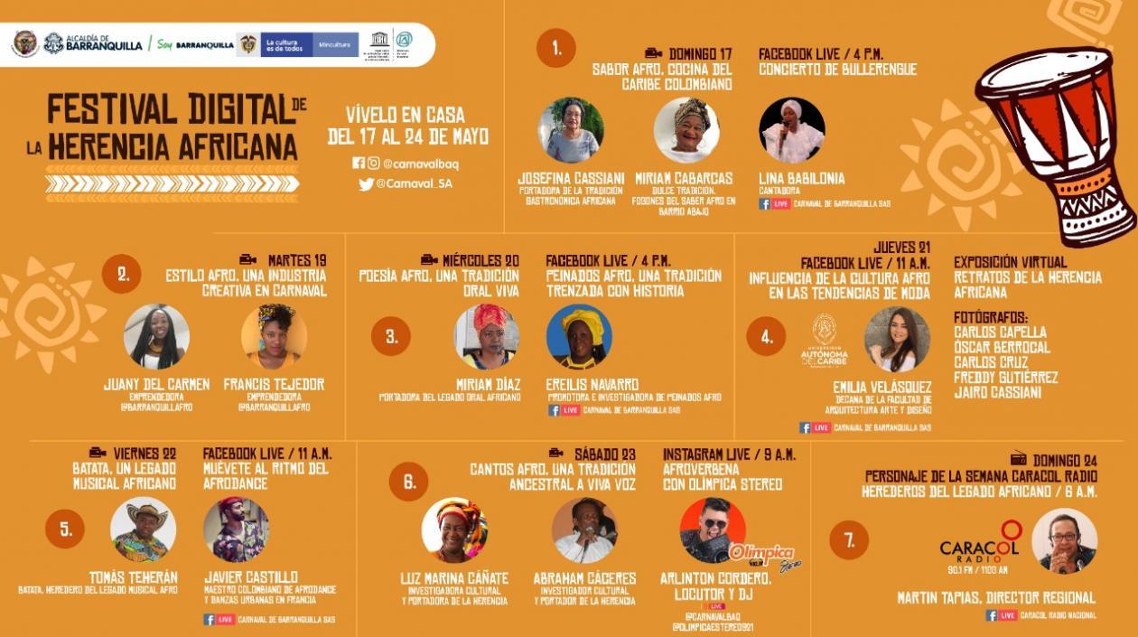 Carnaval de Barranquilla presenta segundo Festival Digital de la Herencia Africana