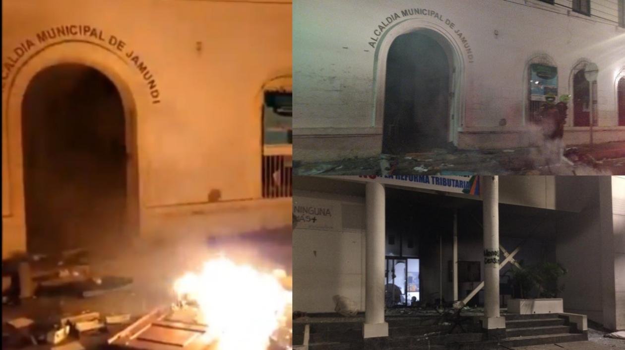 Incendiaron la Alcaldía y el Concejo de Jamundí en el Valle del Cauca