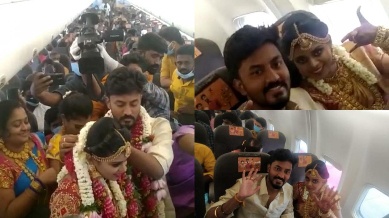Polémica en India por boda en un avión en pleno confinamiento