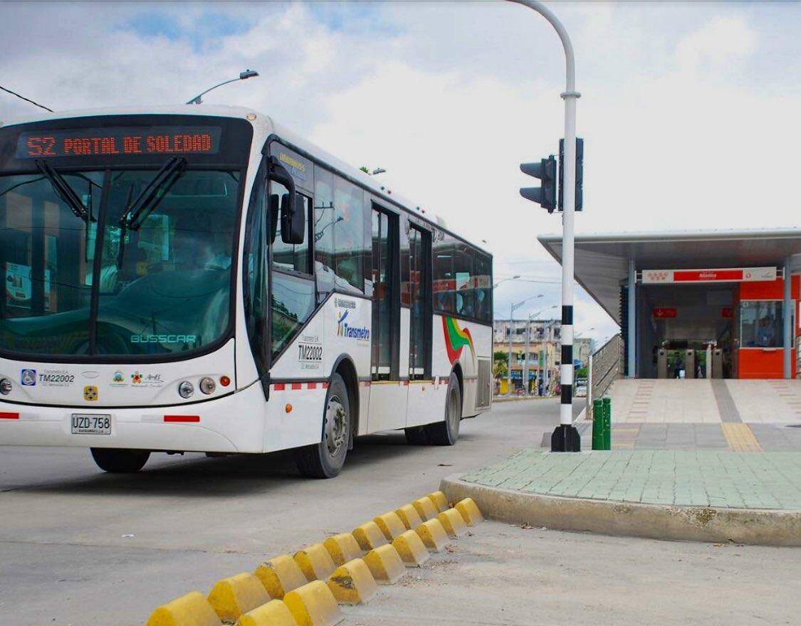 Transmetro suspende su servicio por bloqueos en Barranquilla y Soledad – @TransmetroBAQ
