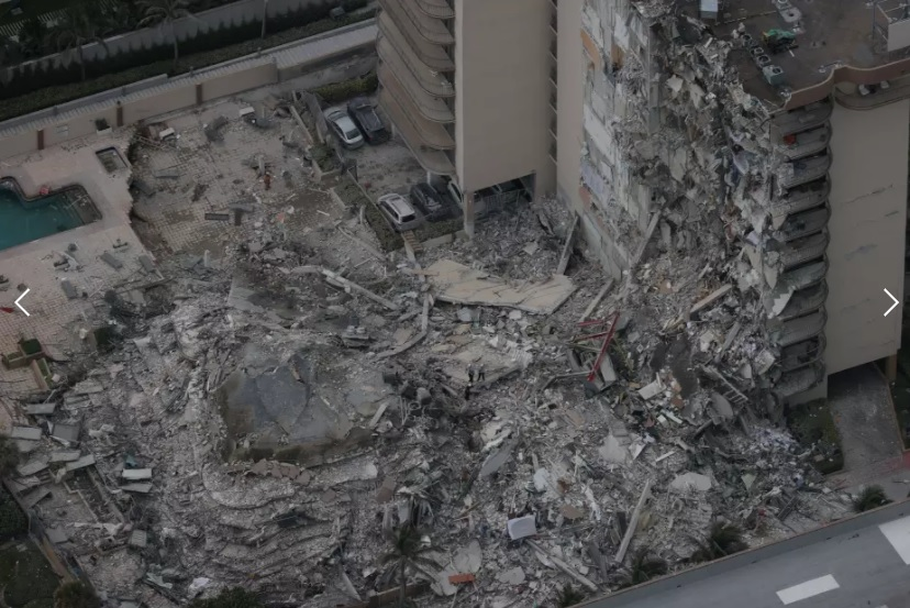 Se escuchan sonidos bajo las ruinas del edificio derrumbado en Miami