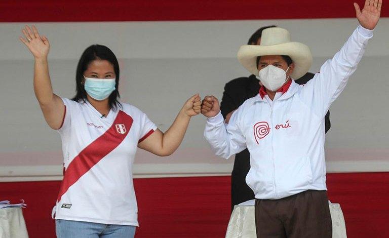 Cerrada carrera entre Keiko Fujimori y Pedro Castillo por la presidencia del Perú