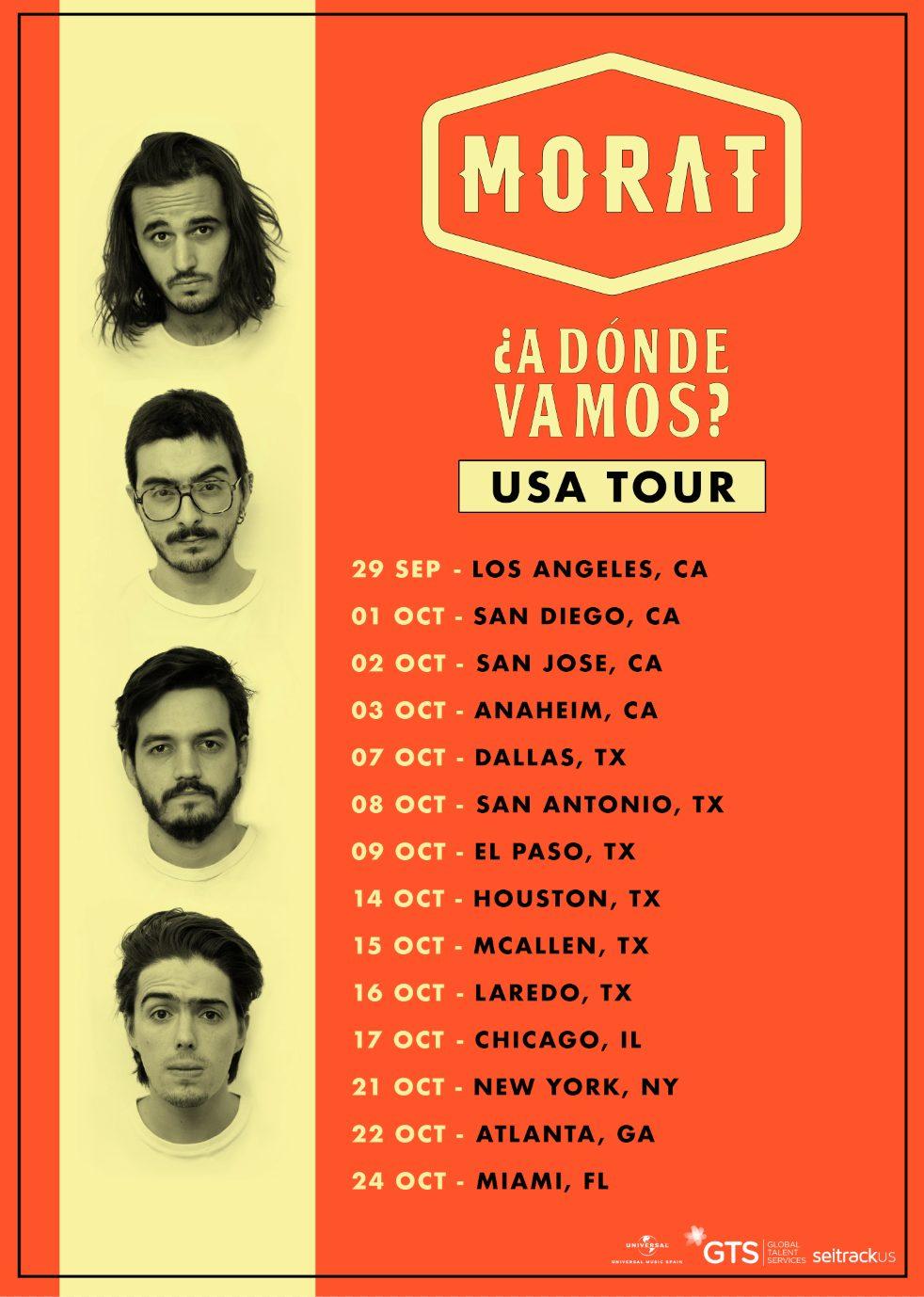 Morat anuncia las fechas de su gira ¿a dónde vamos? por Estados Unidos