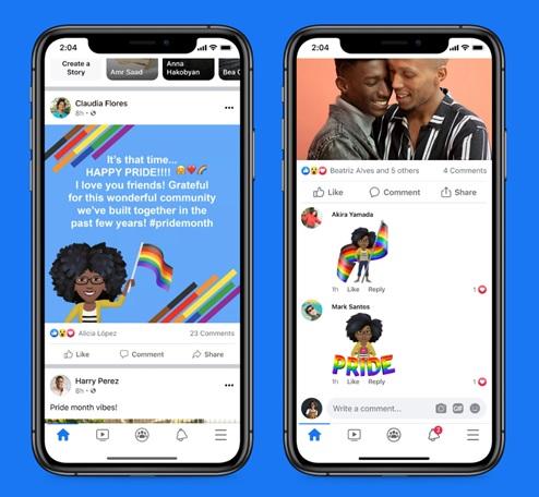 Celebrar el mes del Orgullo LGBTIQ+ con Facebook