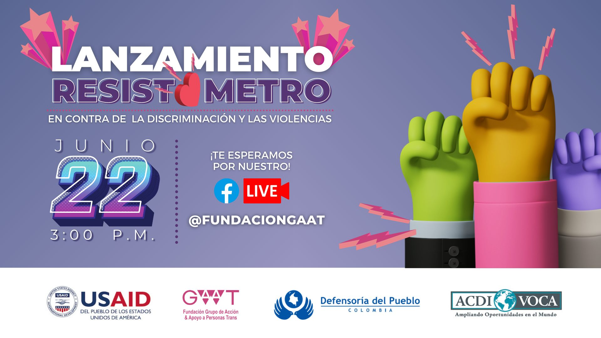 """""""Resistómetro: eliminador de discriminaciones y violencias"""":  una estrategia para prevenir violencias en contra de las personas LGBTIQ+ colombianas y migrantes"""