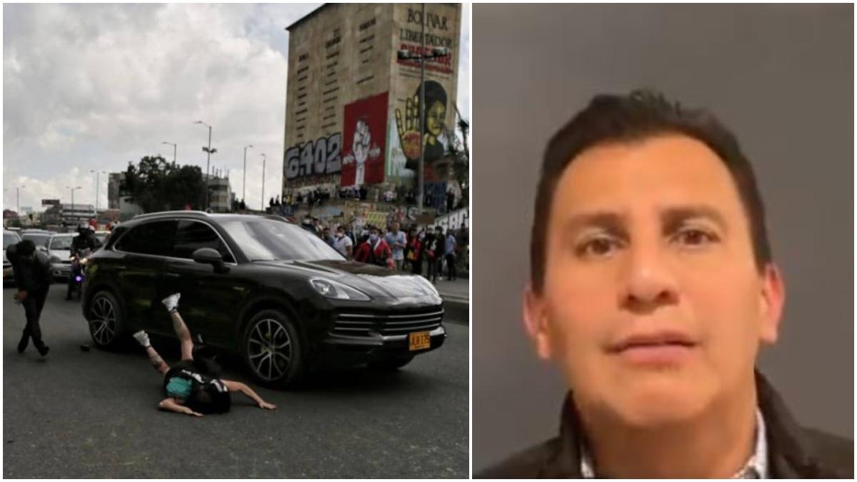 Hombre que atropelló a manifestante apareció y dijo que le manejaba a su padre, que tenía una cita médica