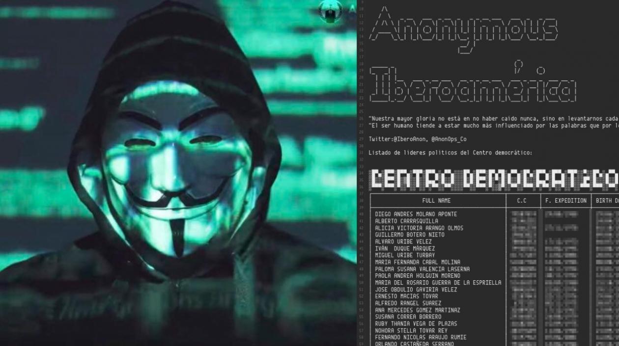 Anonymous atacó al Centro Democrático, al Presidente Duque y al Ministerio de Defensa