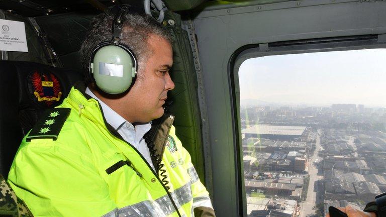 Atacaron helicóptero donde se transportaba el Presidente Duque en el Norte de Santander