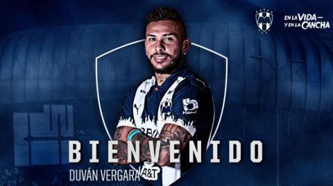Duván Vergara fue presentado como nuevo jugador del Monterrey de México