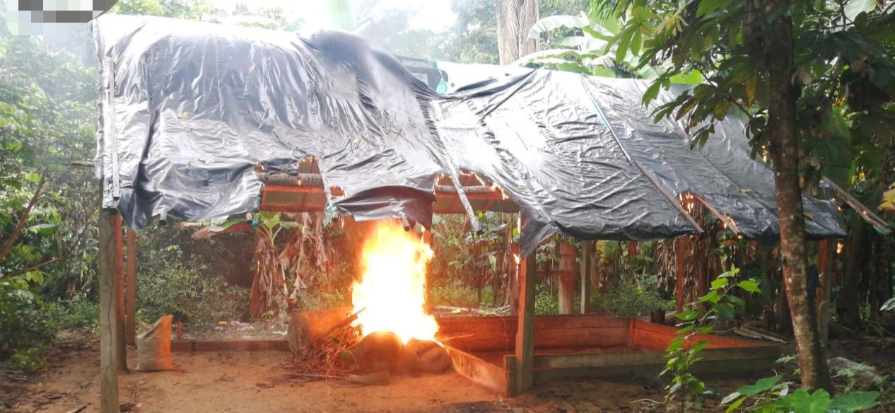 En el Vichada, Fuerza Pública neutraliza laboratorio perteneciente al GAO-ELN