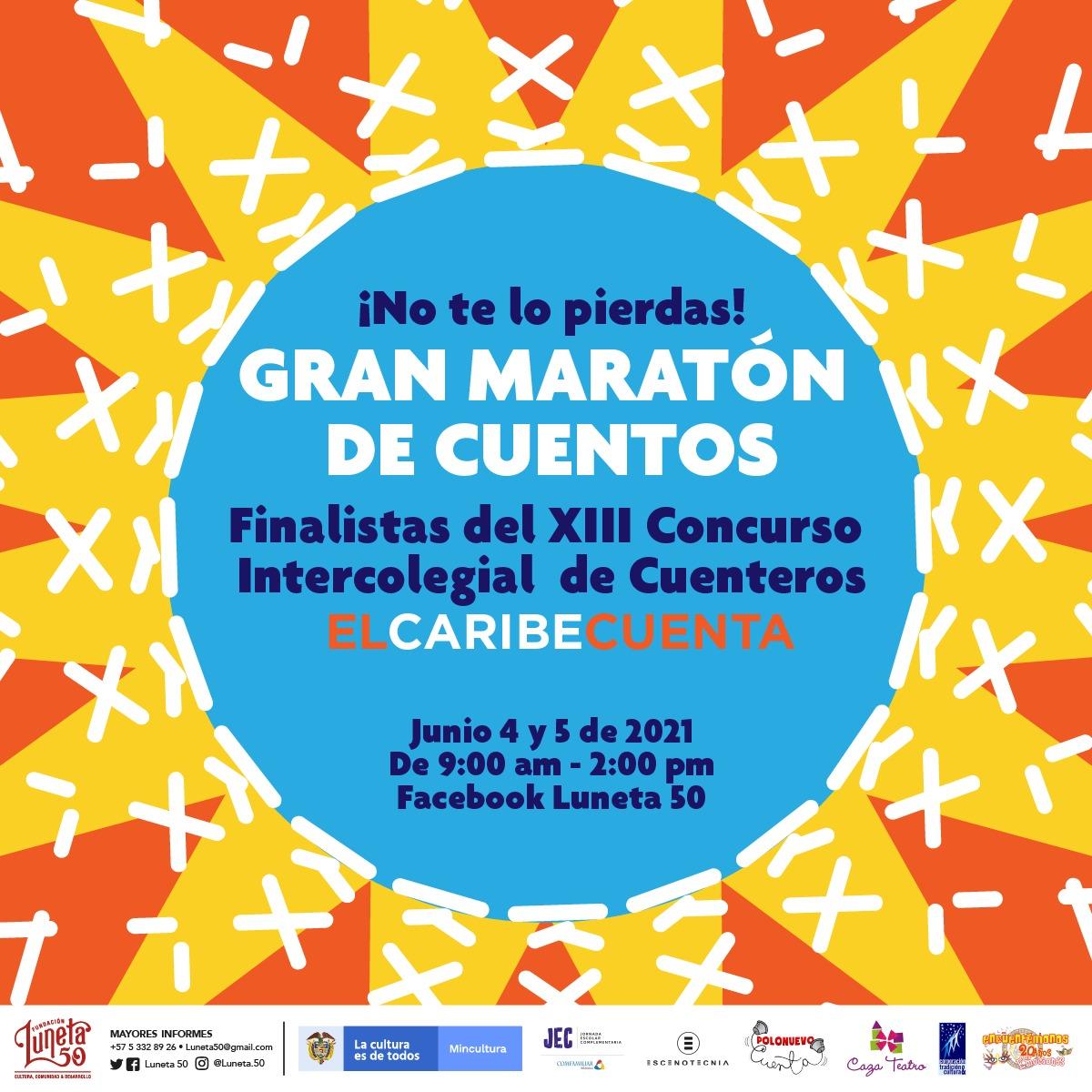 """Este fin de semana, a través de las redes sociales """"Maratón de Cuentos"""" y fallo del jurado del xiii concurso intercolegial de cuenteros"""