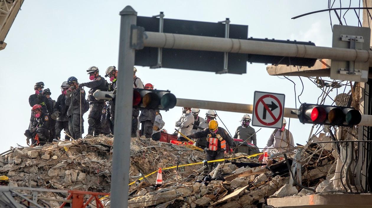 Víctimas de derrumbe de edificio en Miami asciende a 11