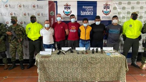 Detienen a seis presuntos integrantes del Clan del Golfo en Bolívar