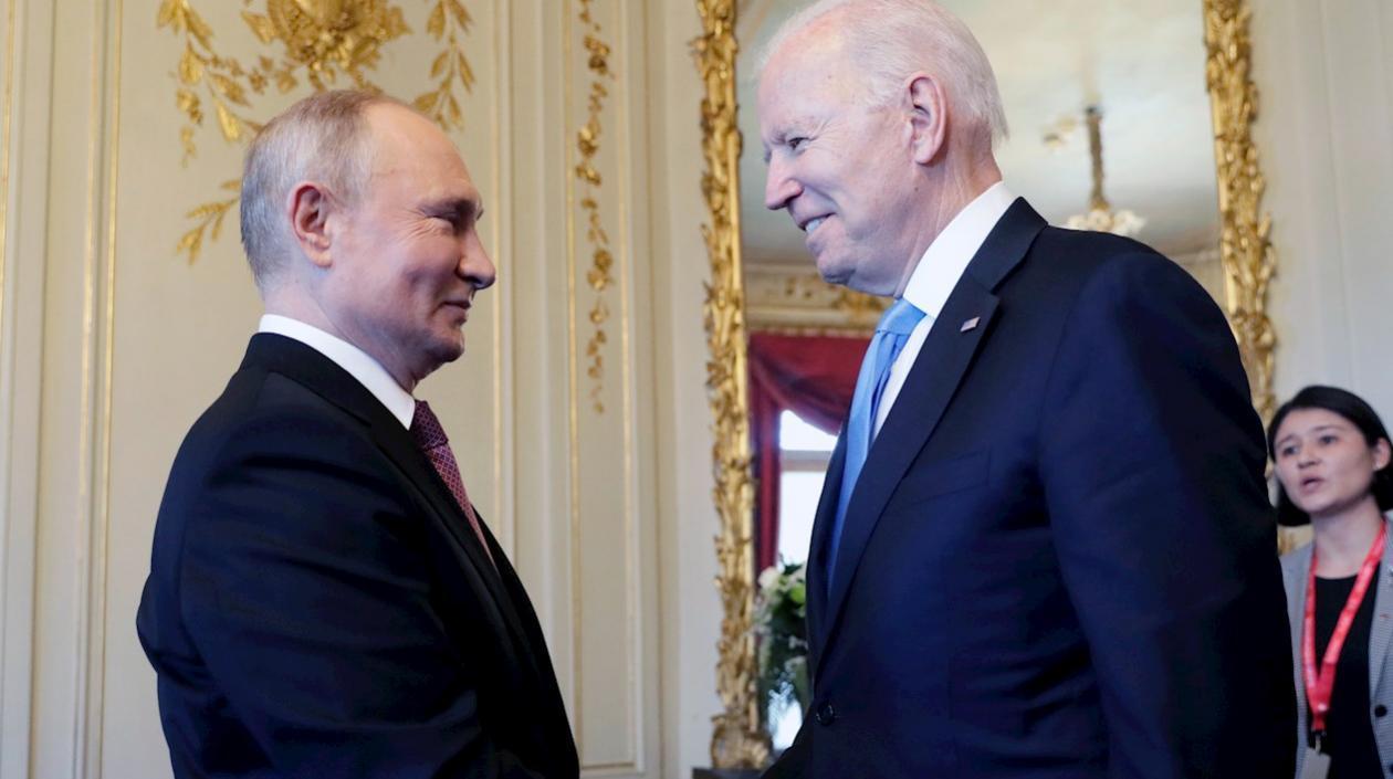 Primer cara a cara entre Vladímir Putin y Joe Biden en Ginebra