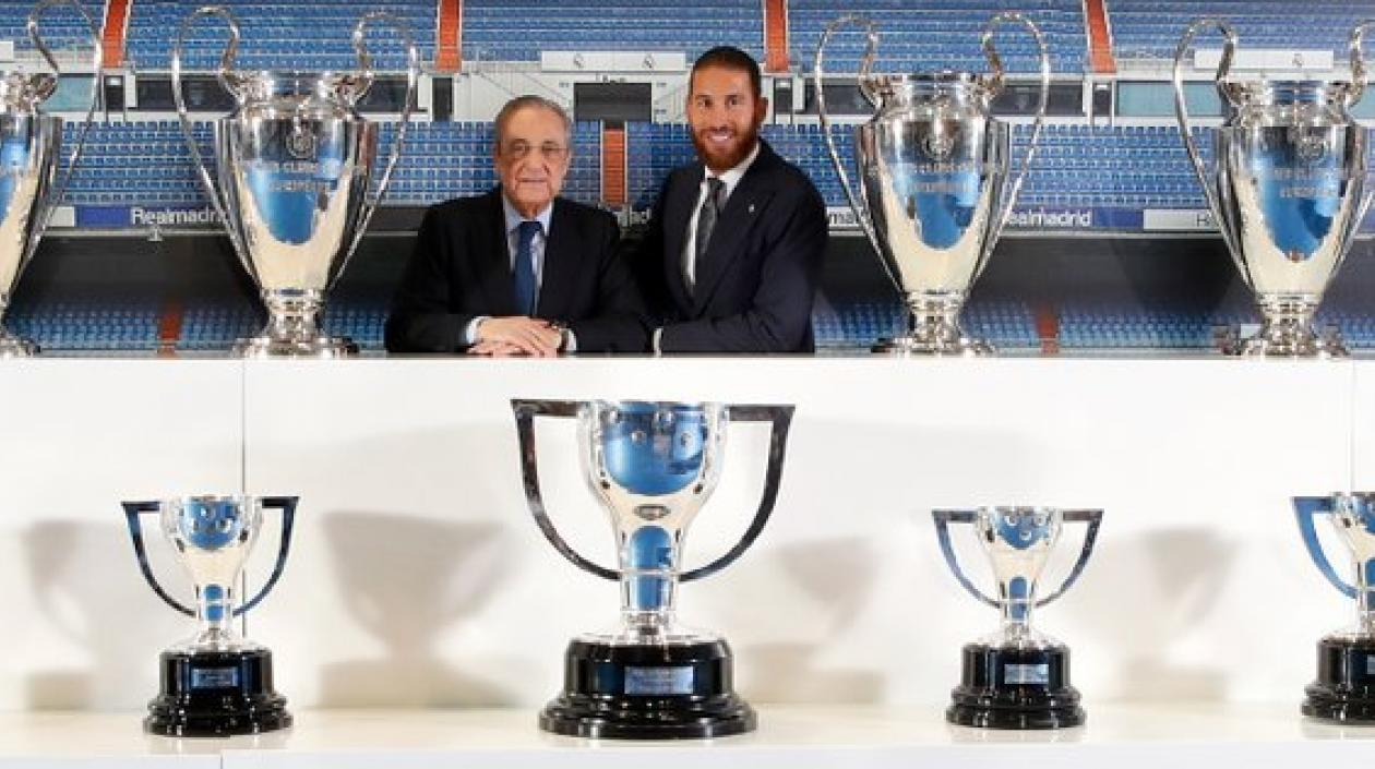Sergio Ramos la dice adiós al Real Madrid y el club le brindó una emotiva despedida