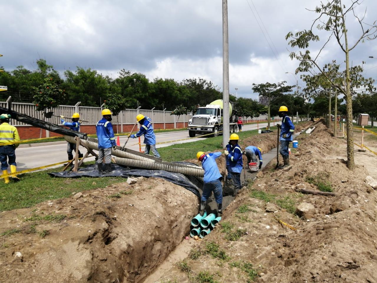 Avanza construcción de cuatro nuevos circuitos en la subestación Norte en inmediaciones del Corredor universitario – @aire_energia