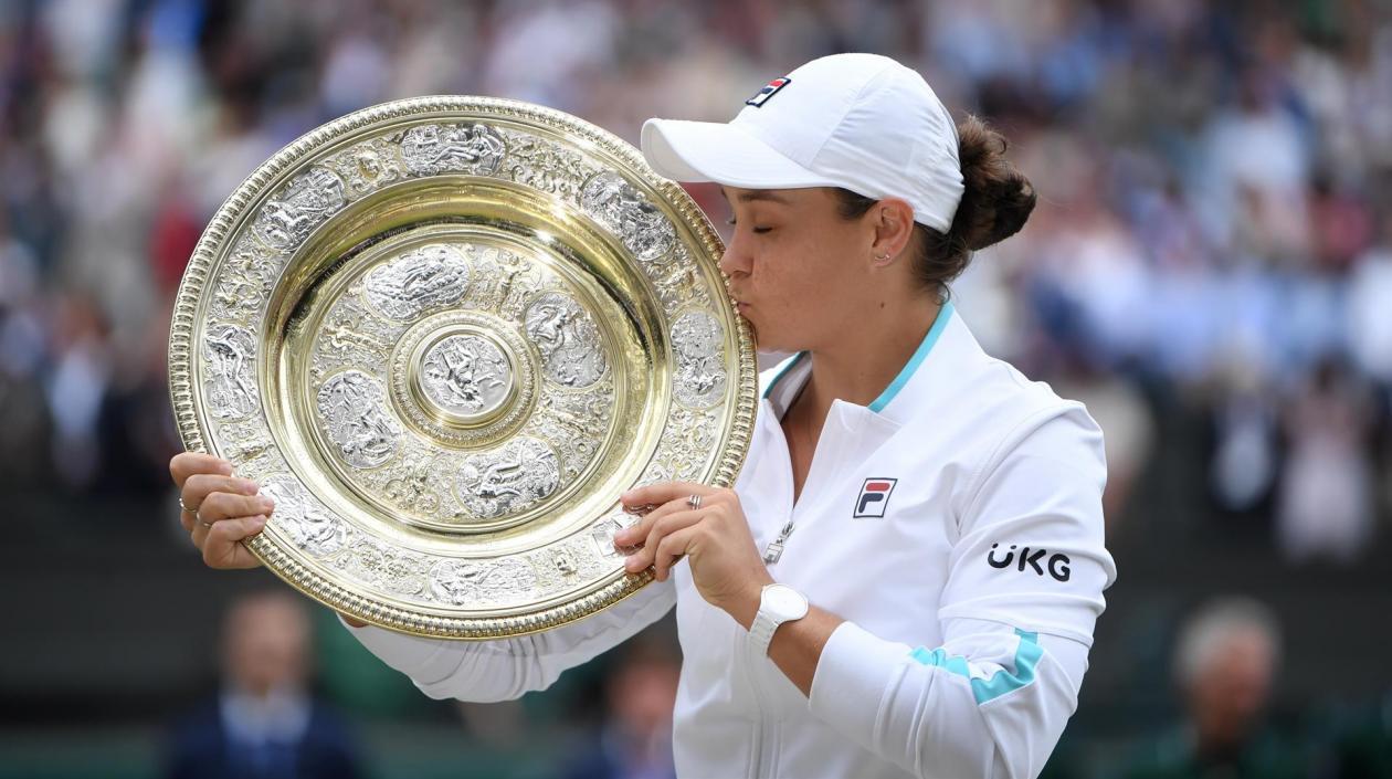 Ashleigh Barty, tenista australiana, se quedó con el Abierto de Wimbledon
