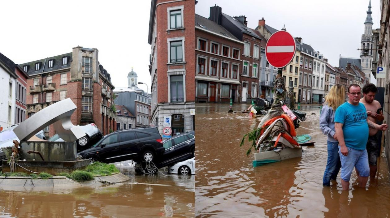 Ante crecidas, Bélgica afronta las peores inundaciones en décadas