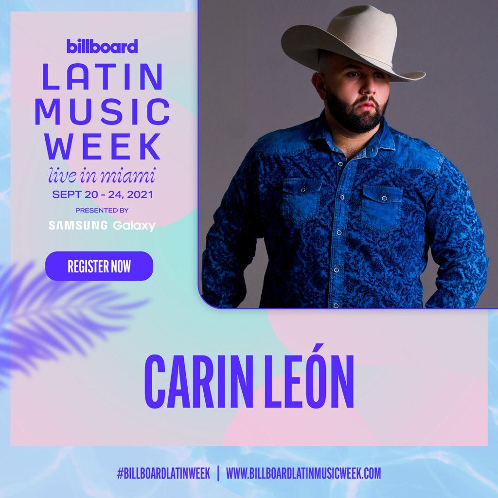 Carin León triunfó en su concierto en México y estará presente en la 'Billboard Latin Music Week'
