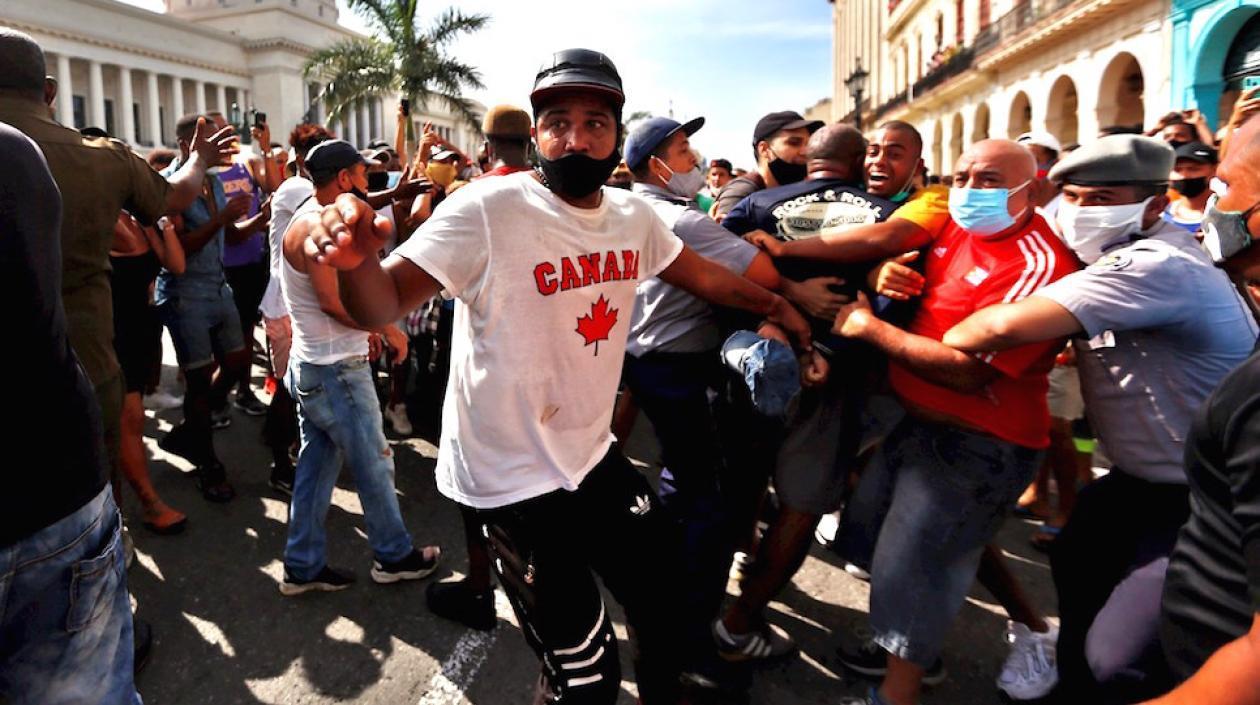 CIDH denuncia agresiones, detenciones y exceso de uso de la fuerza en protesta cubana
