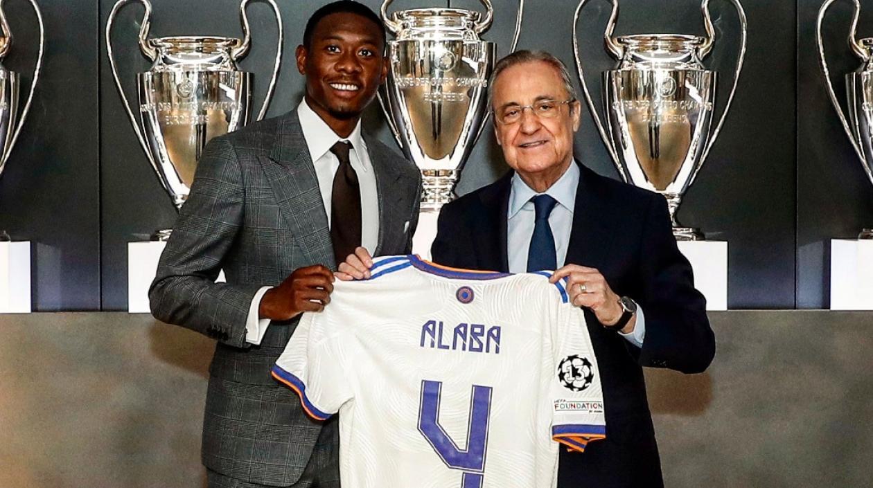 David Alaba fue presentado oficialmente como nuevo jugador del Real Madrid