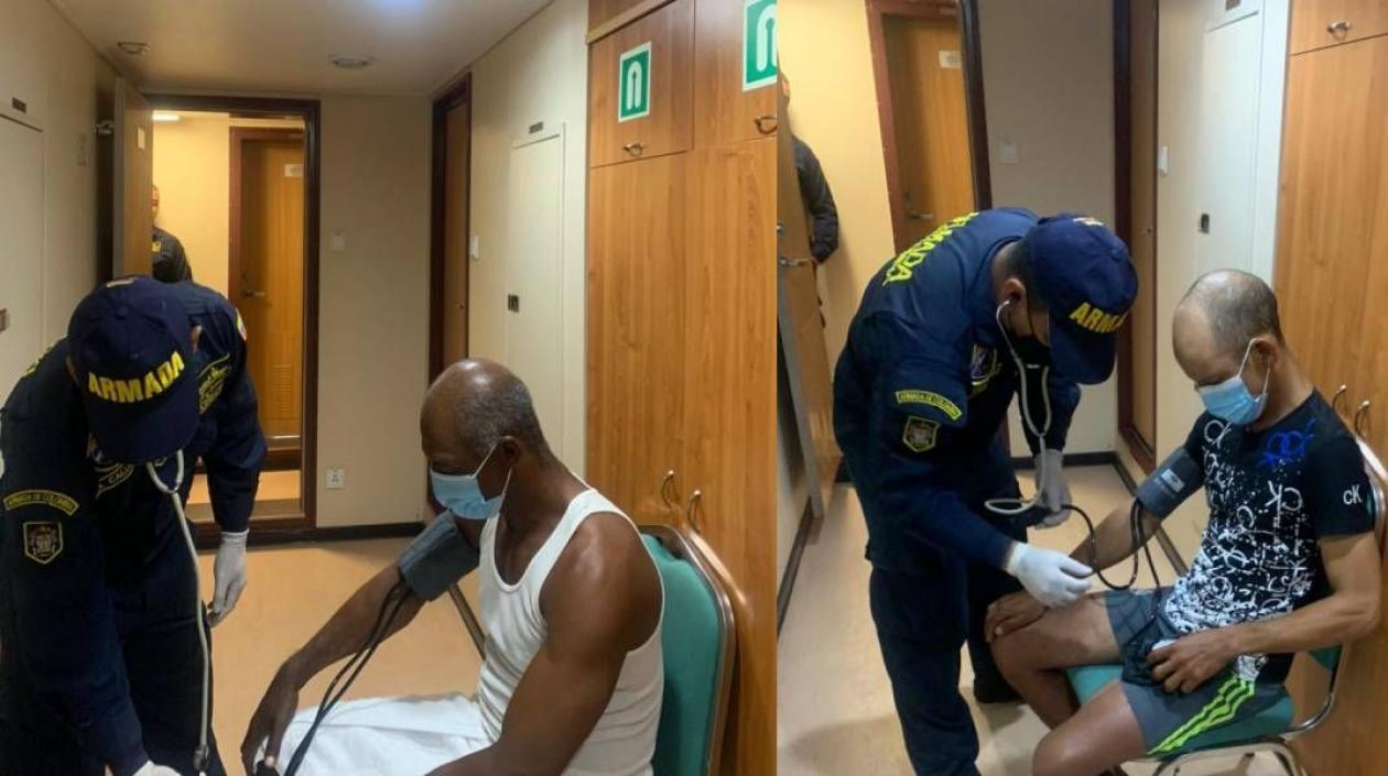 Dos hombres de nacionalidad dominicana que pasaron 14 días a la deriva en el Caribe colombiano fueron rescatados