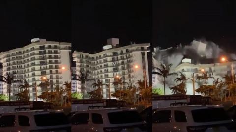 Fue demolido el edificio que se derrumbó en Miami