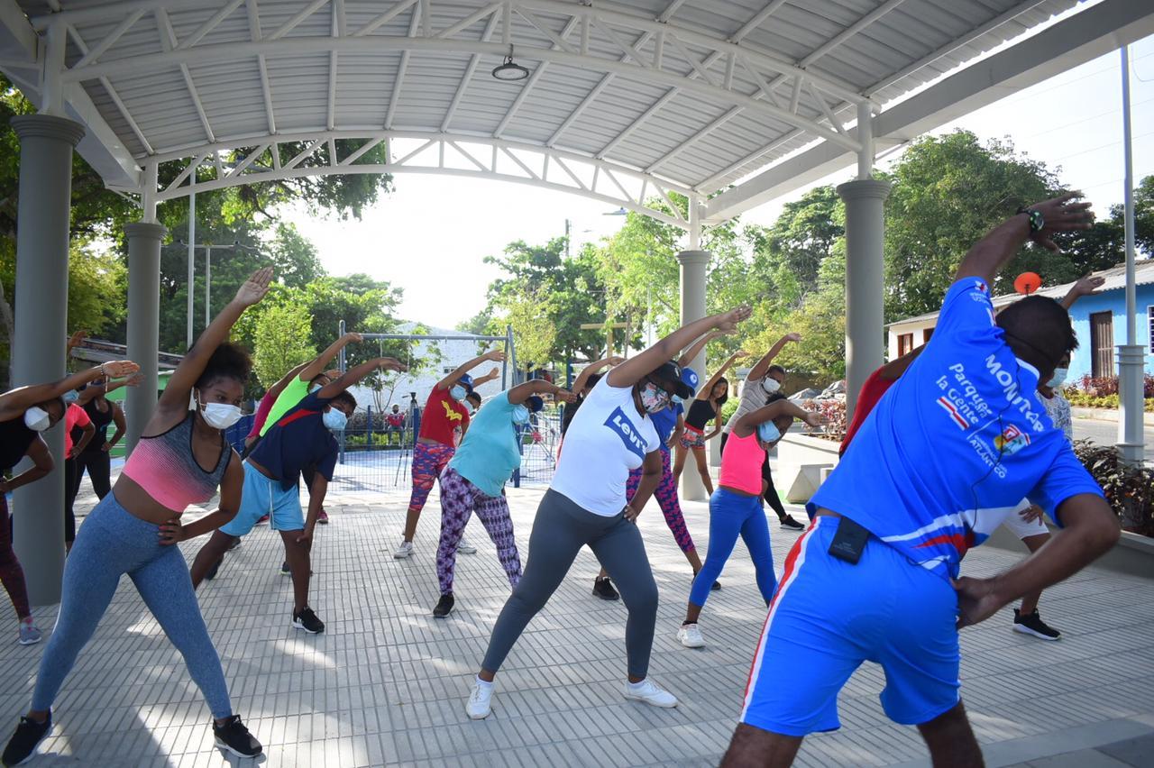 En el parque La Puntica, la comunidad ya disfruta de la oferta de Indeportes Atlántico