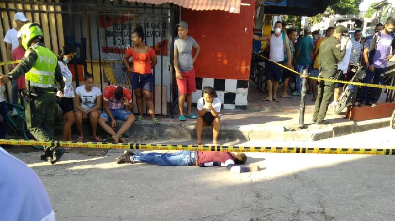 Con tres balazos matan a hombre en el barrio Cruz de Mayo en Soledad