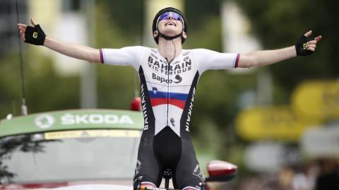 Mahoric gana desde la fuga y Primoz Roglic fue el afectado del día en el Tour de Francia