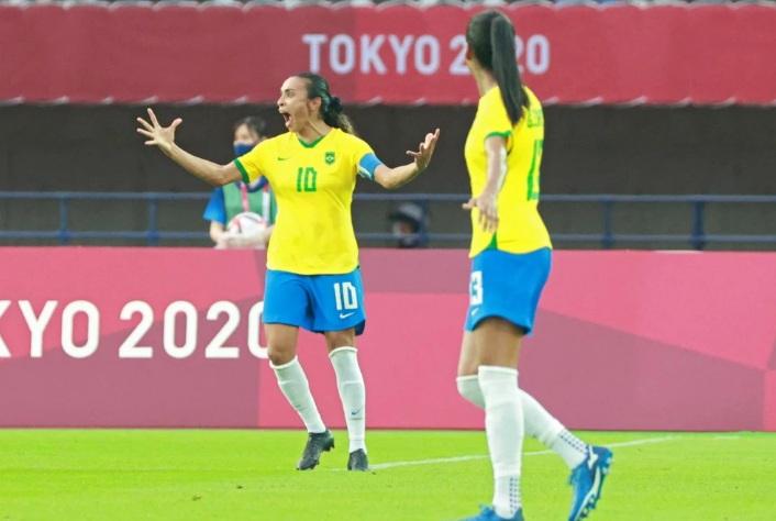 Brasil femenino goleó a China en su debut en los Juegos Olímpicos de Tokio 2020