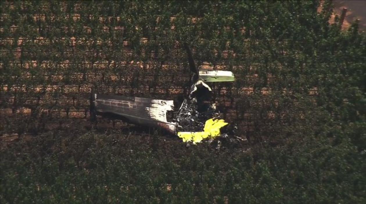 Avioneta con tres personas a bordo se estrelló en un viñedo de California