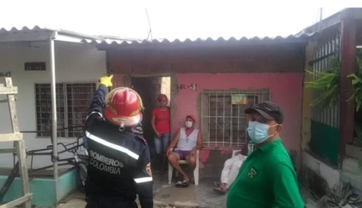 Vendaval destechó más de 50 casas en Soledad, Atlántico