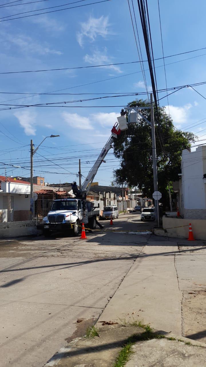 Ejecutan obras de mejora de redes para 380 usuarios en el barrio Atlántico – @aire_energia