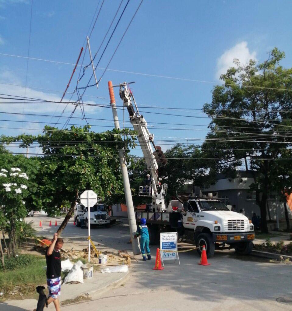 Obras de reposición de redes eléctricas para 1.314 usuarios del barrio Villa Flor de Barranquilla